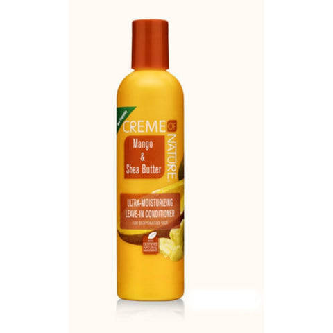 CREME OF NATURE Mango & Shea Butter Ultra-Moisturizing Leave-In Conditioner 8.45oz - HAIRGLO