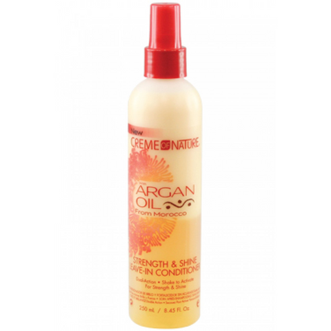 CREME OF NATURE Argan Oil Strength and Shine Leave- In Conditioner 250ml - HAIRGLO