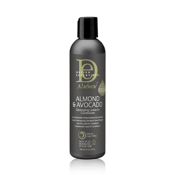 DESIGN ESSENTIALS Almond & Avocado Detangling Leave- In Conditioner 8oz