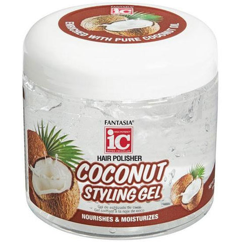 FANTASIA IC Coconut Oil Styling Gel Jar 8oz