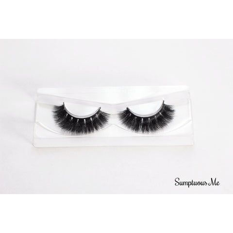 Thick luxury Mink False Eyelashes in fluttery style