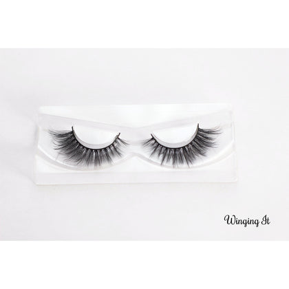 Winged Out, Wing Party Lashes in a beautiful fluttery style, reusable strip false eyelashes