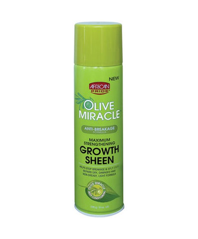 AFRICAN PRIDE Olive Miracle Anti Breakage Formula Maximum Strengthening Growth Sheen 8oz - HAIRGLO