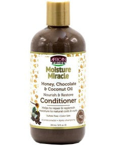 AFRICAN PRIDE Moisture Miracle Honey Chocolate And Coconut Oil Conditioner 12oz - HAIRGLO