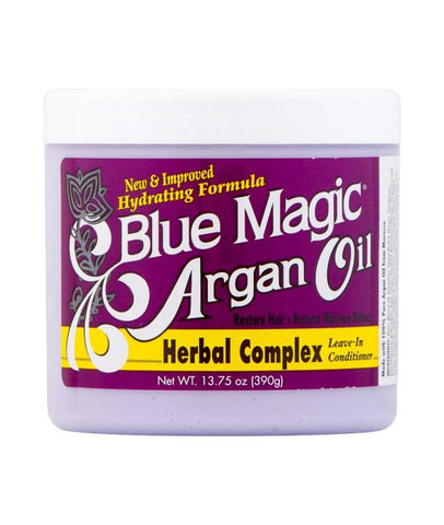 BLUE MAGIC Argan Oil Herbal Complex 12oz - HAIRGLO