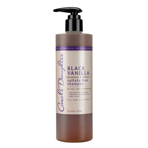 CAROL'S DAUGHTER Black Vanilla Sulphate- Free Shampoo 12oz - HAIRGLO