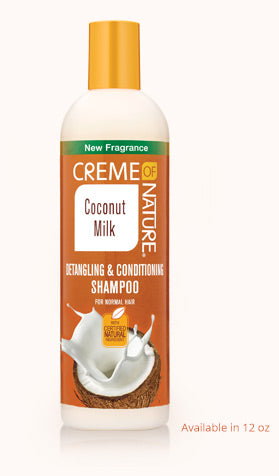 CREME OF NATURE Coconut Milk Detangling and Conditioning Shampoo 12oz - HAIRGLO