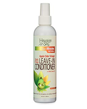 HAWAIIAN SILKY 14 In 1 Miracles Natural Apple Cider Vinegar Static Free Leave-In Conditioner 8oz
