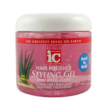 FANTASIA IC Hard To Hold Styling Gel With Sparkle Lites Jar 6oz