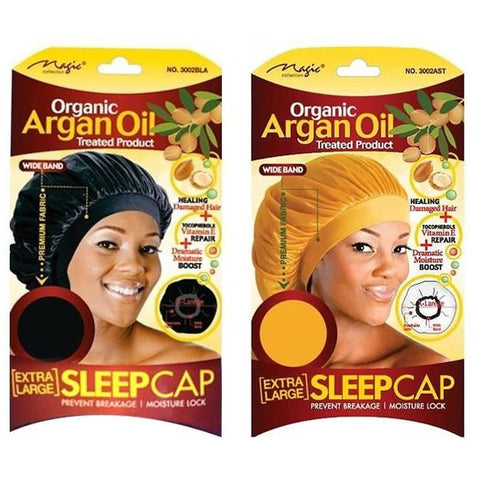 MAGIC COLLECTION Organic Argan Oil Extra Large Sleep Cap