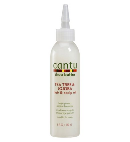 CANTU Tea Tree & Jojoba Hair & Scalp Oil 6oz - HAIRGLO