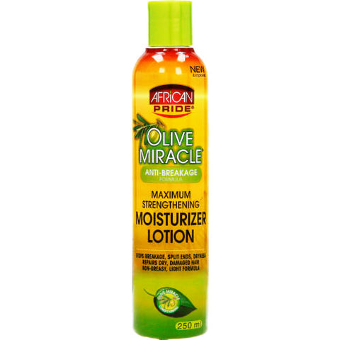 AFRICAN PRIDE Olive Miracle Maximum Strengthening Moisturizer Lotion 12oz - HAIRGLO