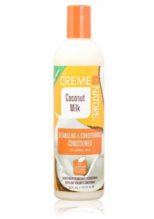 CREME OF NATURE Coconut Milk Detangling And Conditioning Conditioner 12oz - HAIRGLO