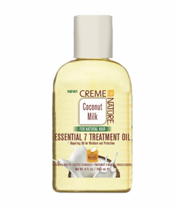 CREME OF NATURE Coconut Milk Essential 7 Treatment Oil 4oz