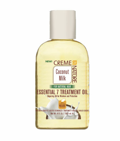 CREME OF NATURE Coconut Milk Essential 7 Treatment Oil 4oz - HAIRGLO