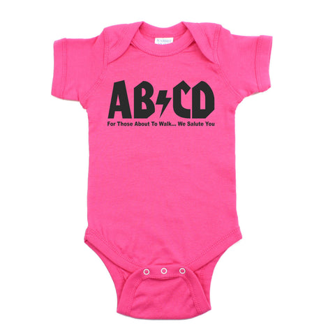 AB/CD Rock & Roll 100% Cotton Short Sleeve Unisex Baby Bodysuit One Piece