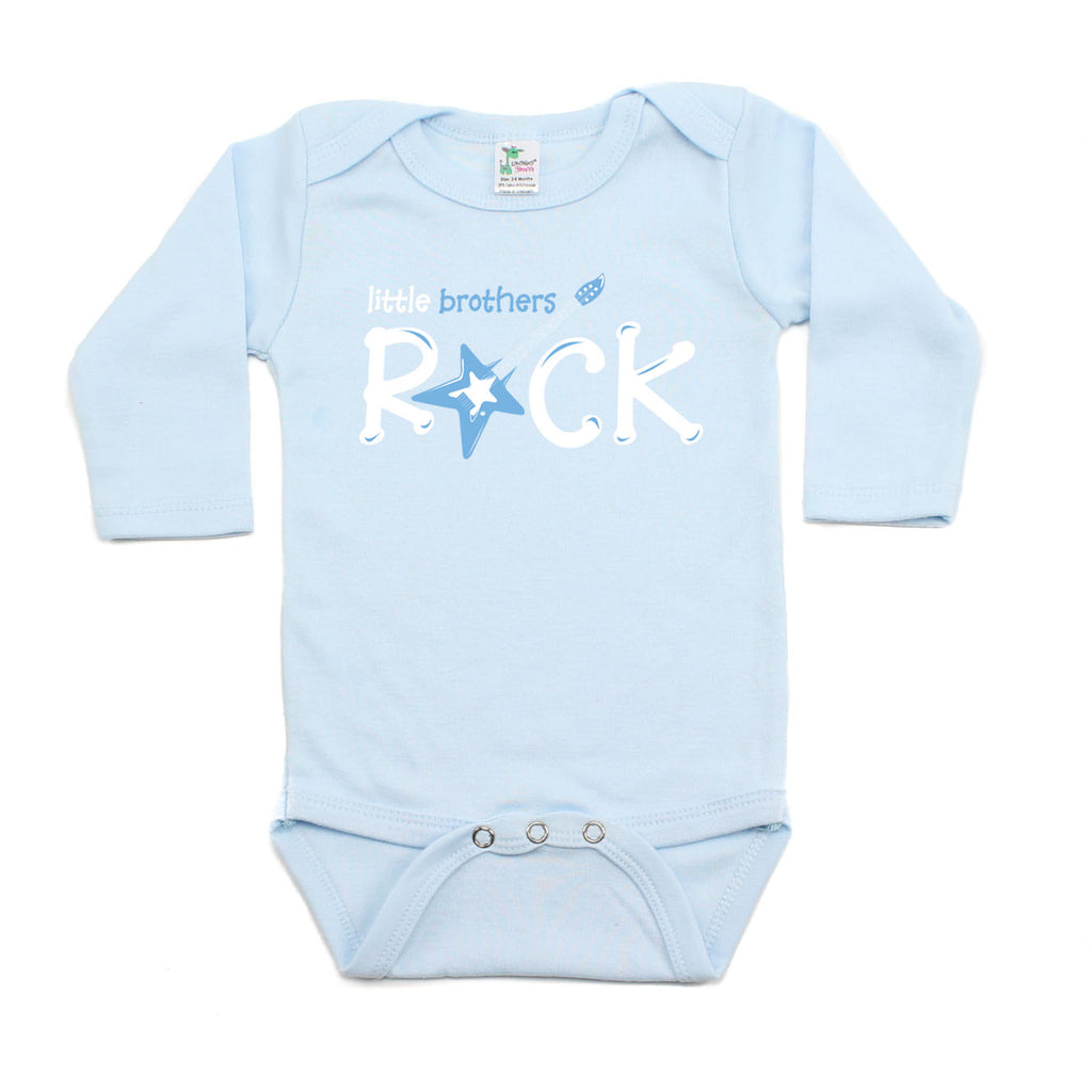 Little Brothers Rock Star Guitar Long Sleeve Baby Infant Bodysuit