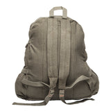 Lotus Flower Canvas Teardrop Backpack with Leather Bottom Accents