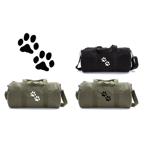 Cute Puppy Dog Paws Print Duffle Bag Sports Gym Duffel Tote