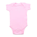 Cotton Solid Short Sleeve Baby Infant Bodysuit Creeper One Piece Snapsuit