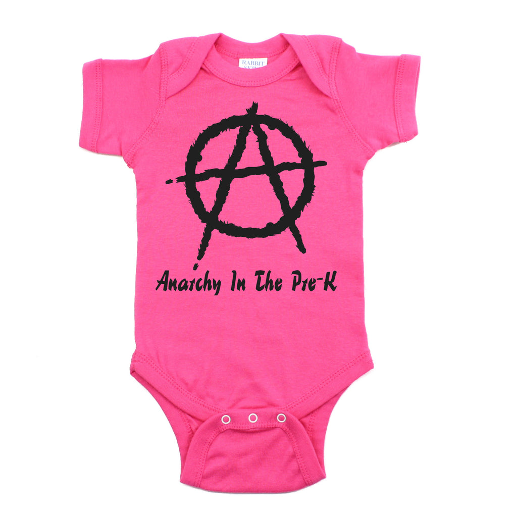 Punk Rock Anarchy In the Pre-K Short Sleeve Baby Infant Bodysuit