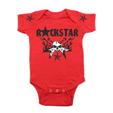 Skull Guitar Hero Flames Rockstar Deluxe Short Sleeve Baby Infant Bodysuit
