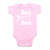 Born to Rock Electric Guitar Rockstar Short Sleeve Baby Infant Bodysuit
