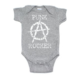 Punk Rocker Rockstar Rock N Roll Short Sleeve Baby Infant Bodysuit