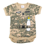 Soldier with Baby Bottle Short Sleeve Baby Infant Bodysuit