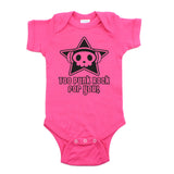 Too Punk Rock For You Skull Short Sleeve Baby Infant Bodysuit