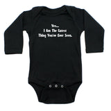 Yes, I am the Cutest..Long Sleeve Baby Infant Bodysuit