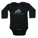 My First Christmas Holiday Long Sleeve Baby Infant Bodysuit