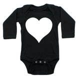 Big White Heart Long Sleeve Baby Infant Bodysuit
