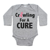 Breast Cancer Awareness Crawling For A Cure Long Sleeve Infant Bodysuit