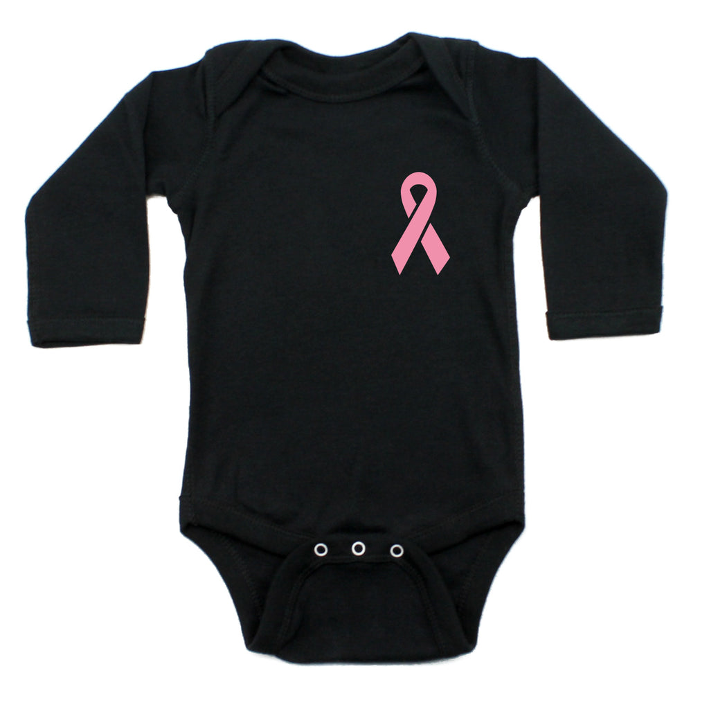 Breast Cancer Awareness Pink Ribbon Long Sleeve Infant Bodysuit
