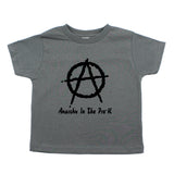 Anarchy in the Pre-K Punk Rock Kids Toddler Short Sleeve T-Shirt
