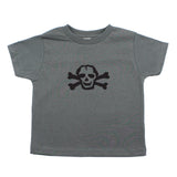 Black Scribble Skull and Bones Baby-Girls Toddler Short Sleeve T-Shirt