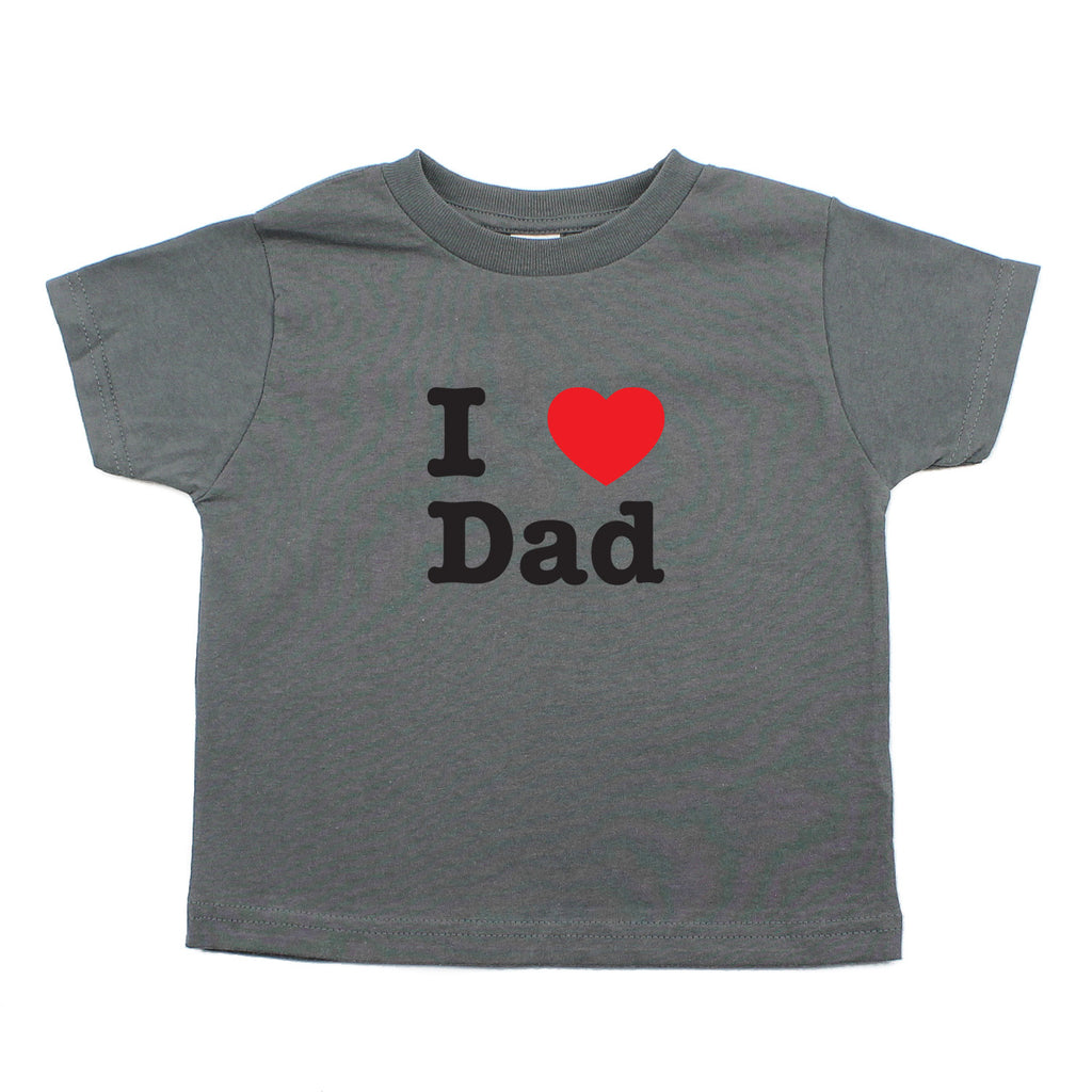 I Heart Love Dad Unisex-Baby Short Sleeve Toddler T-Shirt