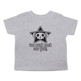 Too Punk Rock For You Skull Unisex-Kids Toddler Short Sleeve T-Shirt