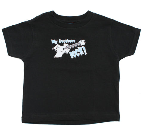 Big Brothers Rock! Baby-Boys Toddler Short Sleeve T-Shirt