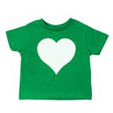 White Heart Holiday | Cute Baby- Girls Toddler Short Sleeve T-Shirt