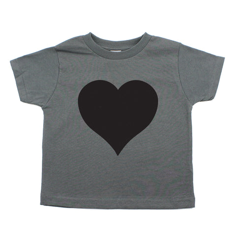 Black Heart Holiday | Cute Baby- Girls Toddler Short Sleeve T-Shirt