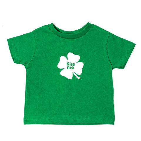 St. Patrick's Day Kiss Me Clover Long Sleeve Baby Infant Bodysuit