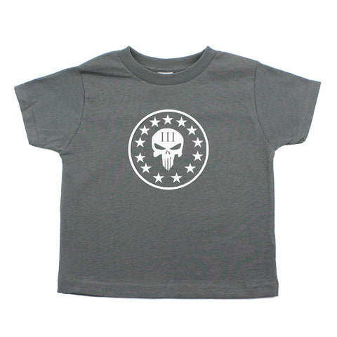 Three Percenter Punisher Skull Baby-Boys Toddler Short Sleeve T-Shirt