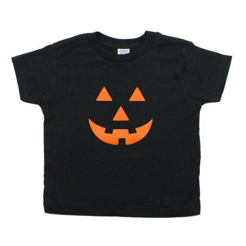 Halloween Pumpkin Face Short Sleeve Baby Infant Bodysuit