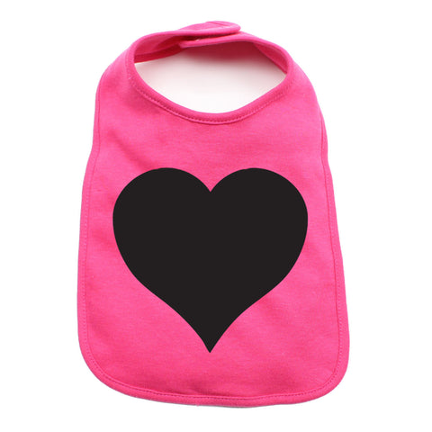 Black Heart Holiday Cute Newborn Baby Soft Cotton Bib