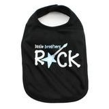 Little Brothers Rock Baby Soft Cotton Bib