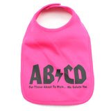 Unisex Baby ABCD Rock N Roll Cotton Bib