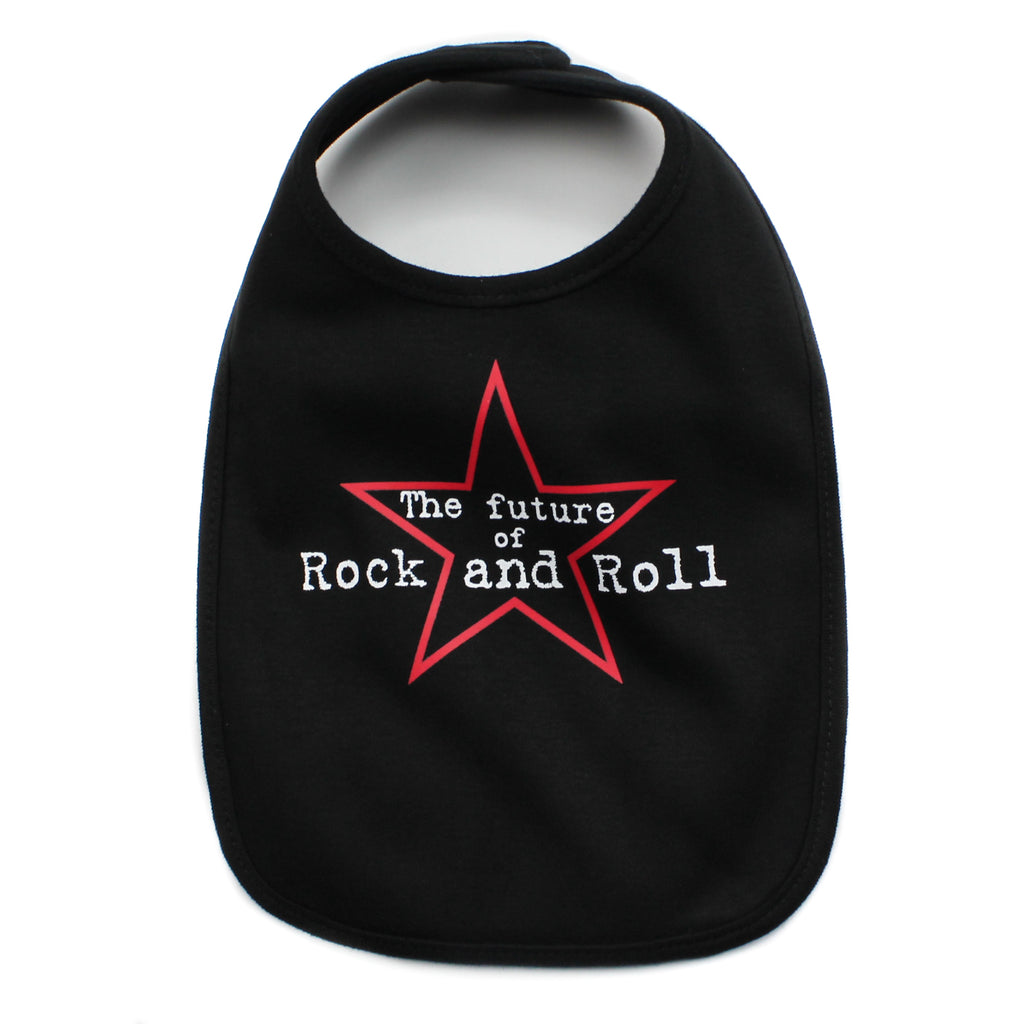 Future of Rock and Roll  Unisex Newborn Baby Soft Cotton Bib