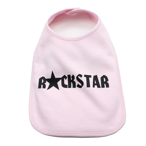 Rockstar Cool Unisex Newborn Baby Soft Cotton Bib